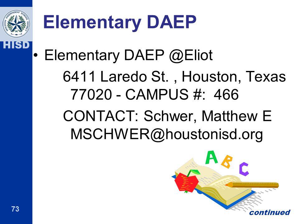 Elementary DAEP Elementary DAEP @Eliot
