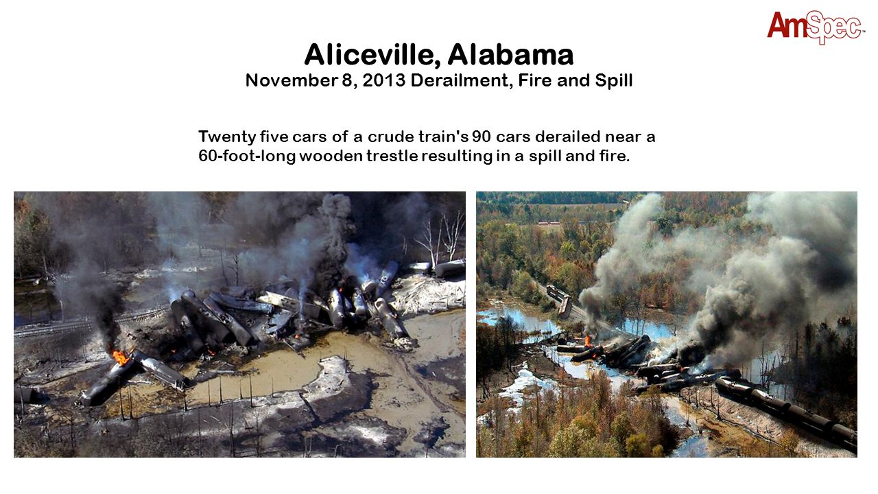 Aliceville, Alabama November 8, 2013 Derailment, Fire and Spill