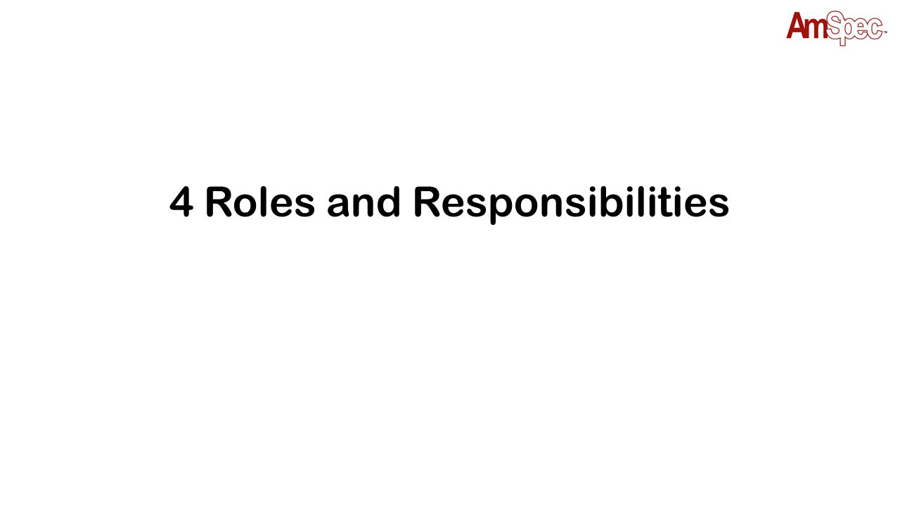 4 Roles and Responsibilities