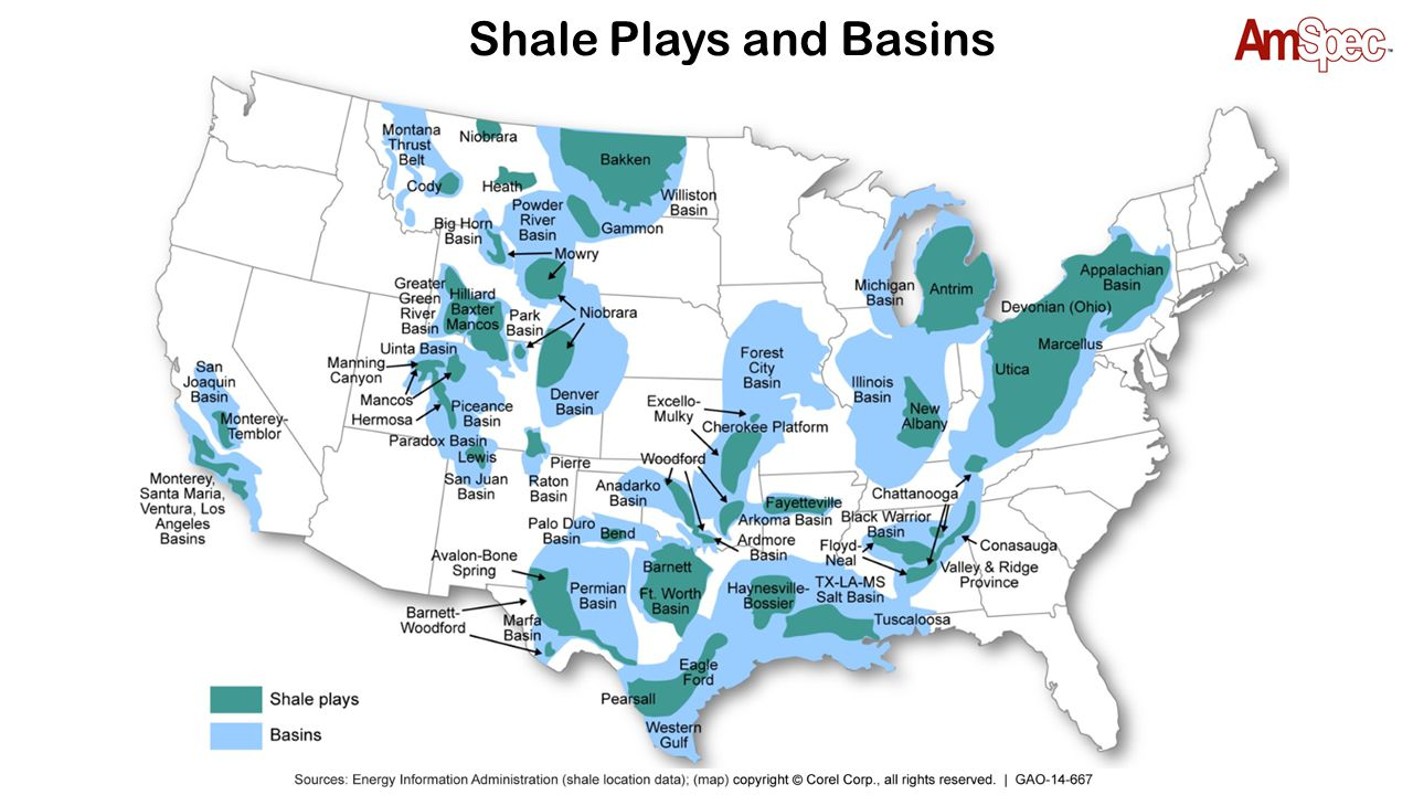 Shale Plays and Basins