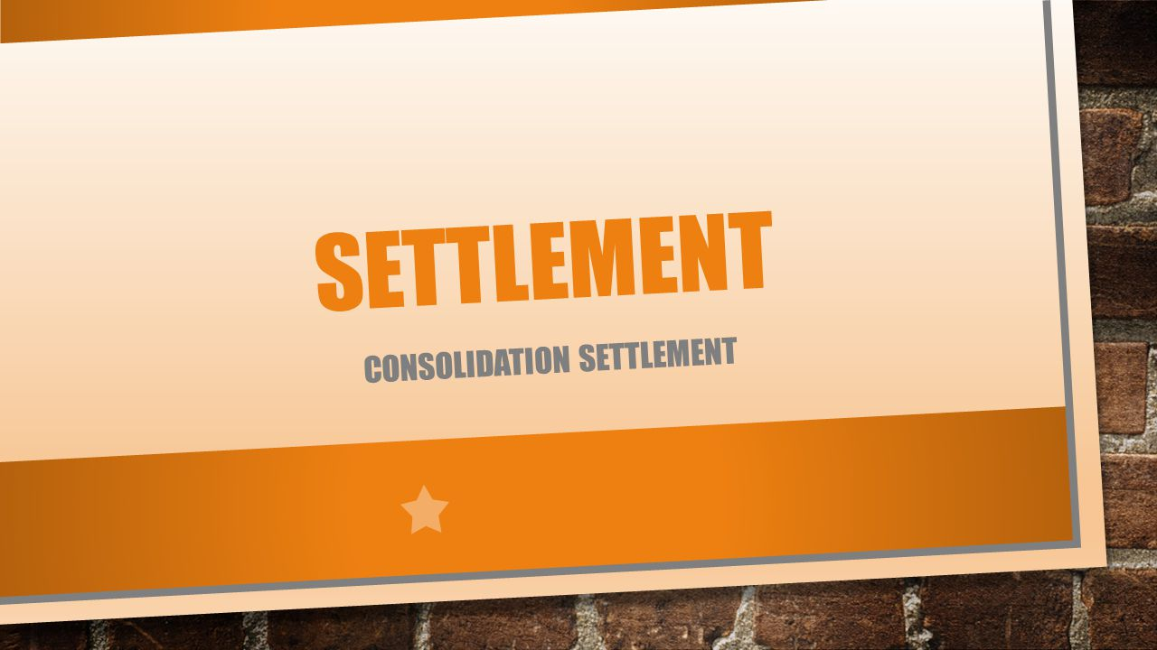 consolidation settlement