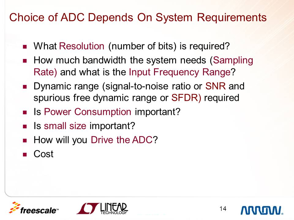 Choice of ADC Depends On System Requirements
