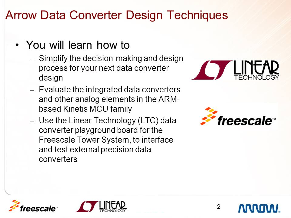Arrow Data Converter Design Techniques