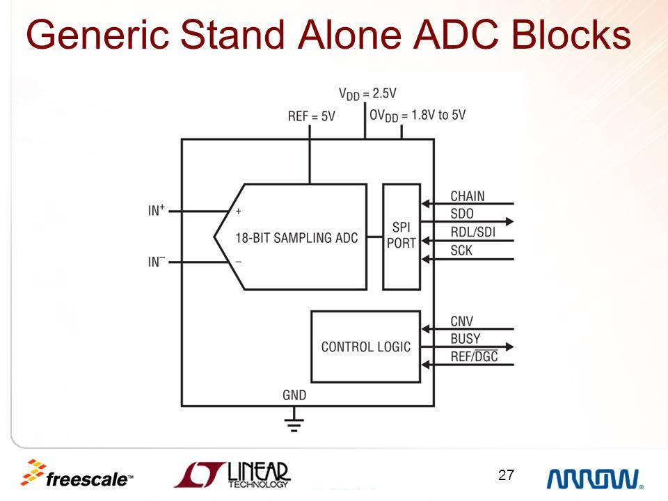 Generic Stand Alone ADC Blocks