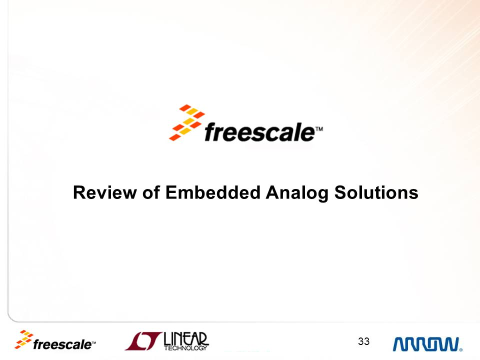 Review of Embedded Analog Solutions