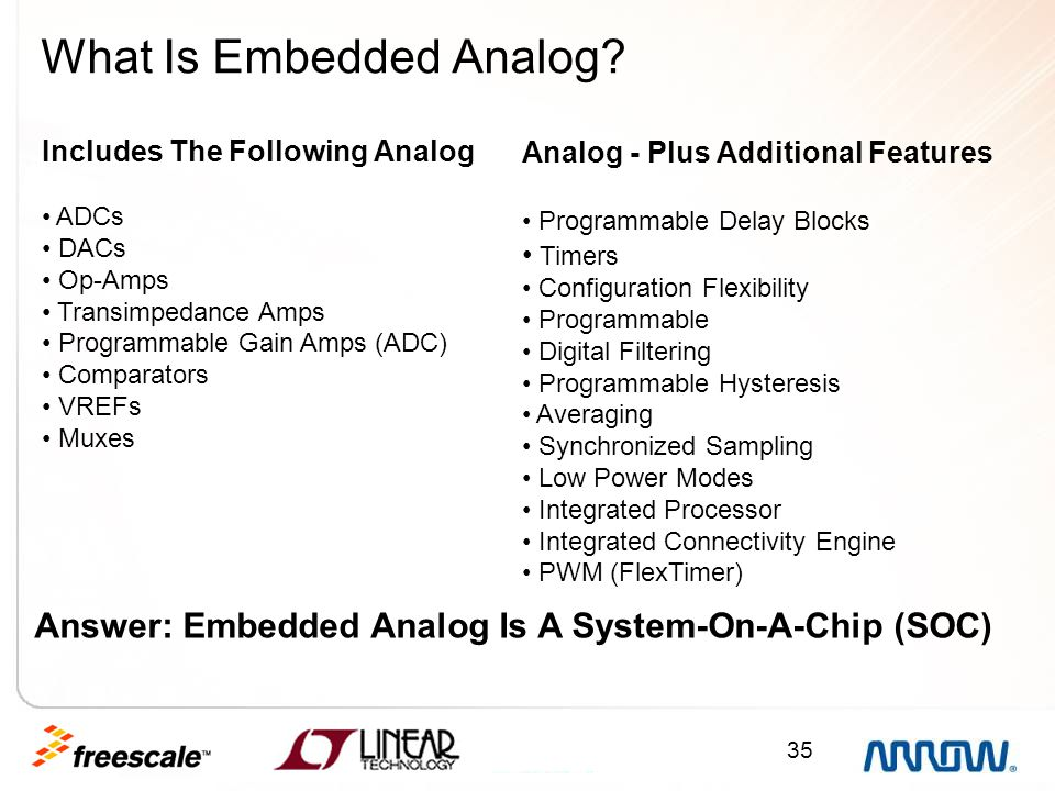 What Is Embedded Analog