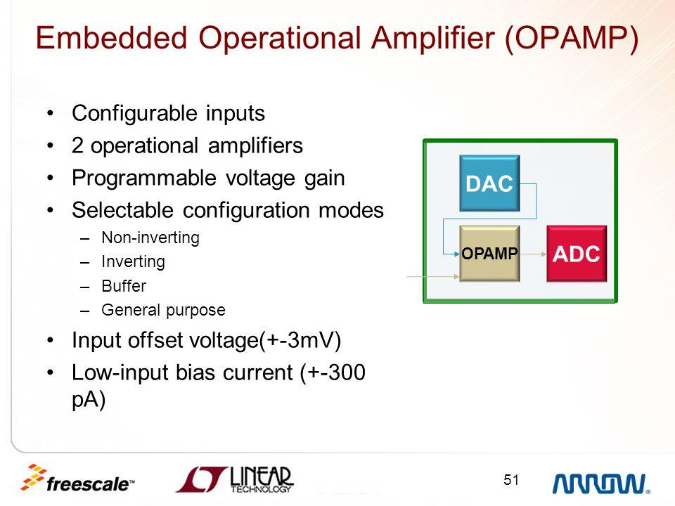 Embedded Operational Amplifier (OPAMP)