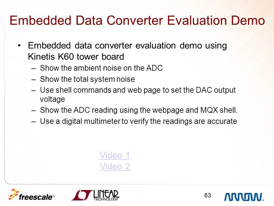 Embedded Data Converter Evaluation Demo