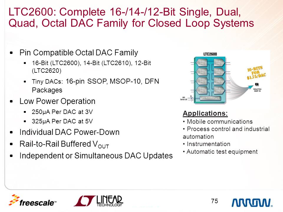 LTC2600: Complete 16-/14-/12-Bit Single, Dual, Quad, Octal DAC Family for Closed Loop Systems