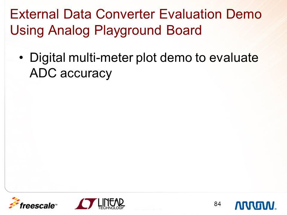 External Data Converter Evaluation Demo Using Analog Playground Board