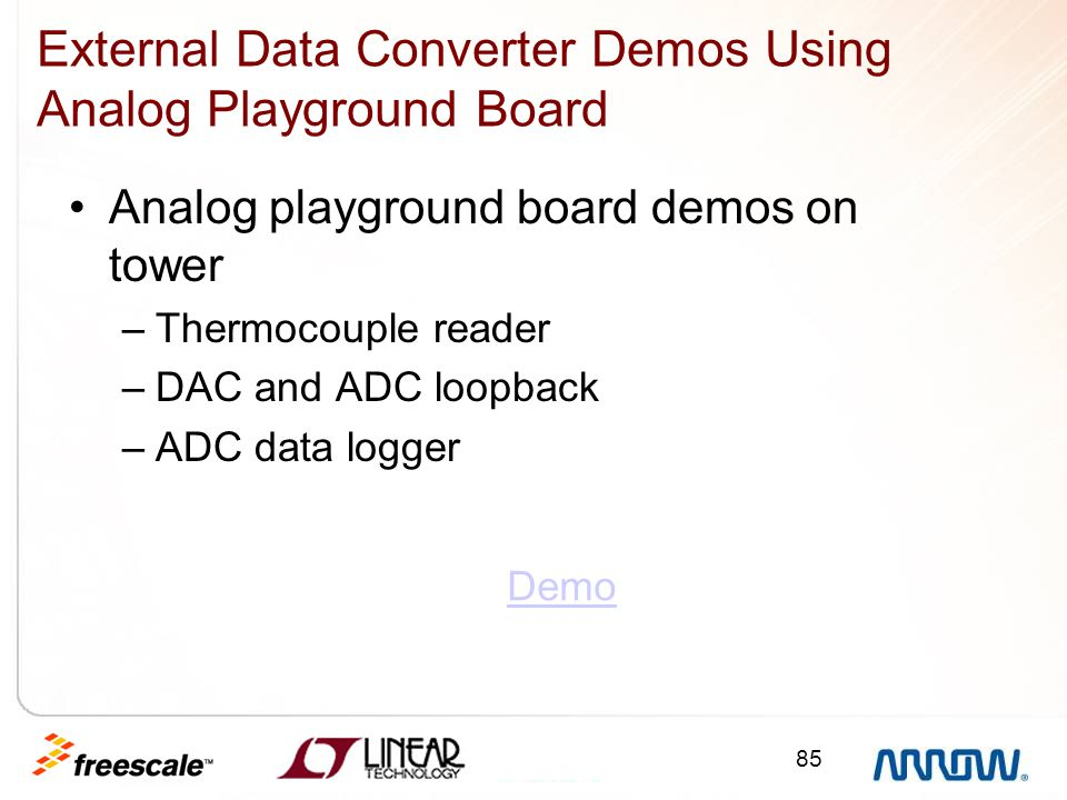External Data Converter Demos Using Analog Playground Board