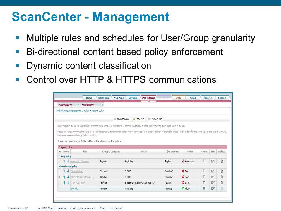 ScanCenter - Management