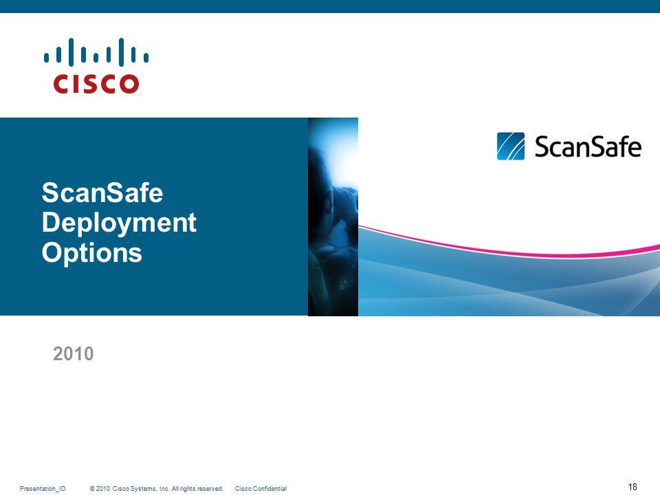 ScanSafe Deployment Options