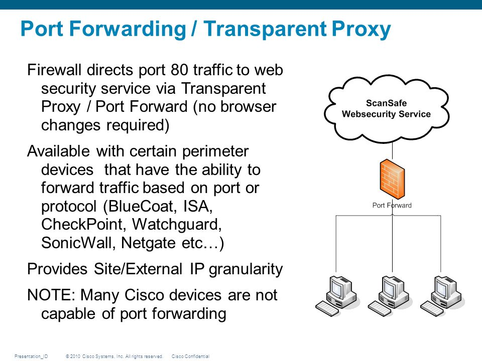 Port Forwarding / Transparent Proxy