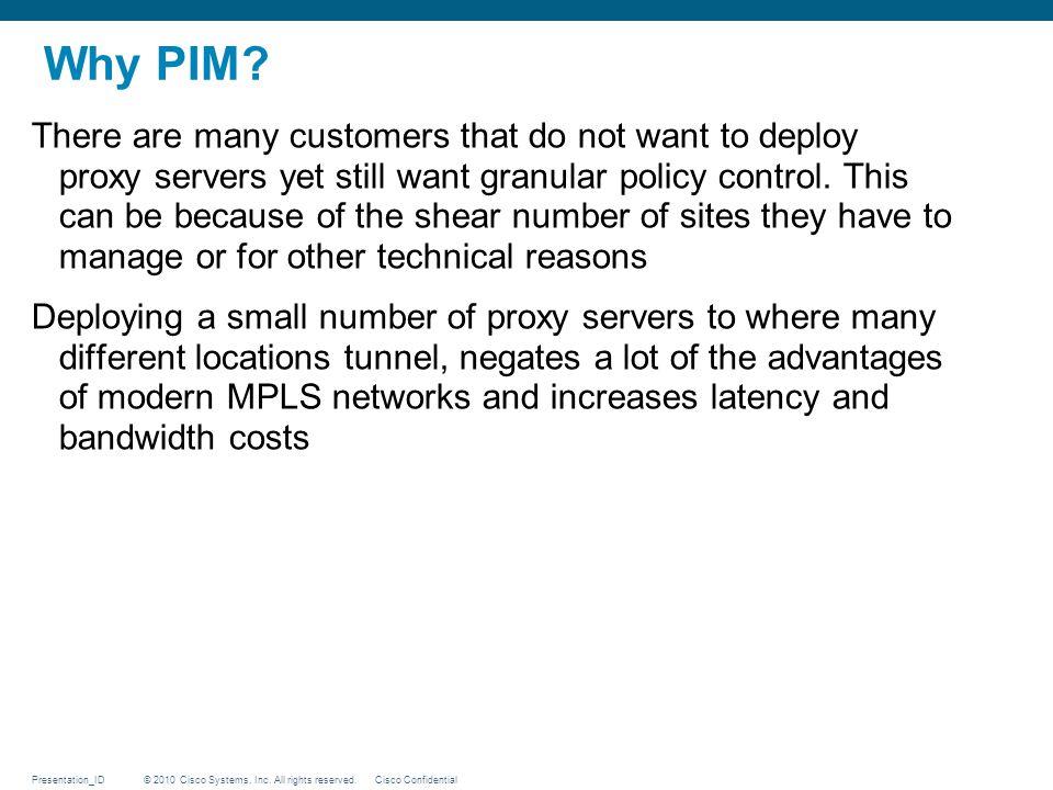 Why PIM