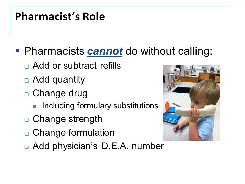 Pharmacist's Role Pharmacists cannot do without calling: