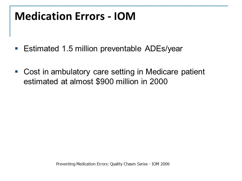 Medication Errors - IOM