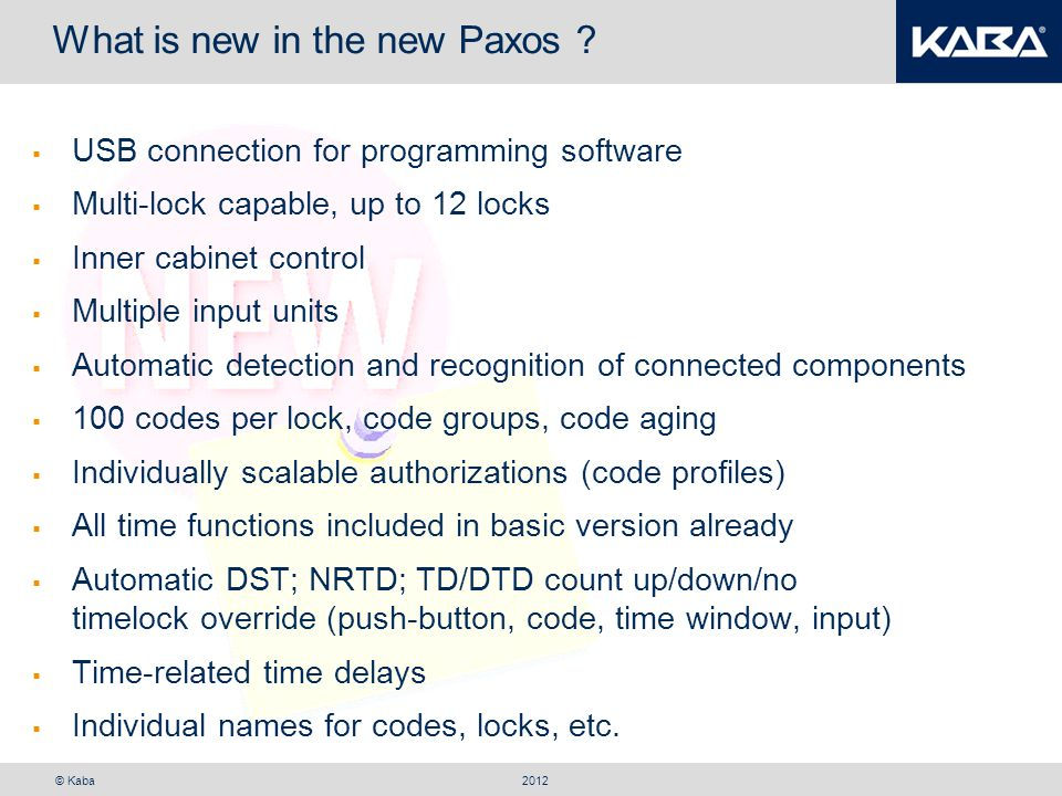 What is new in the new Paxos