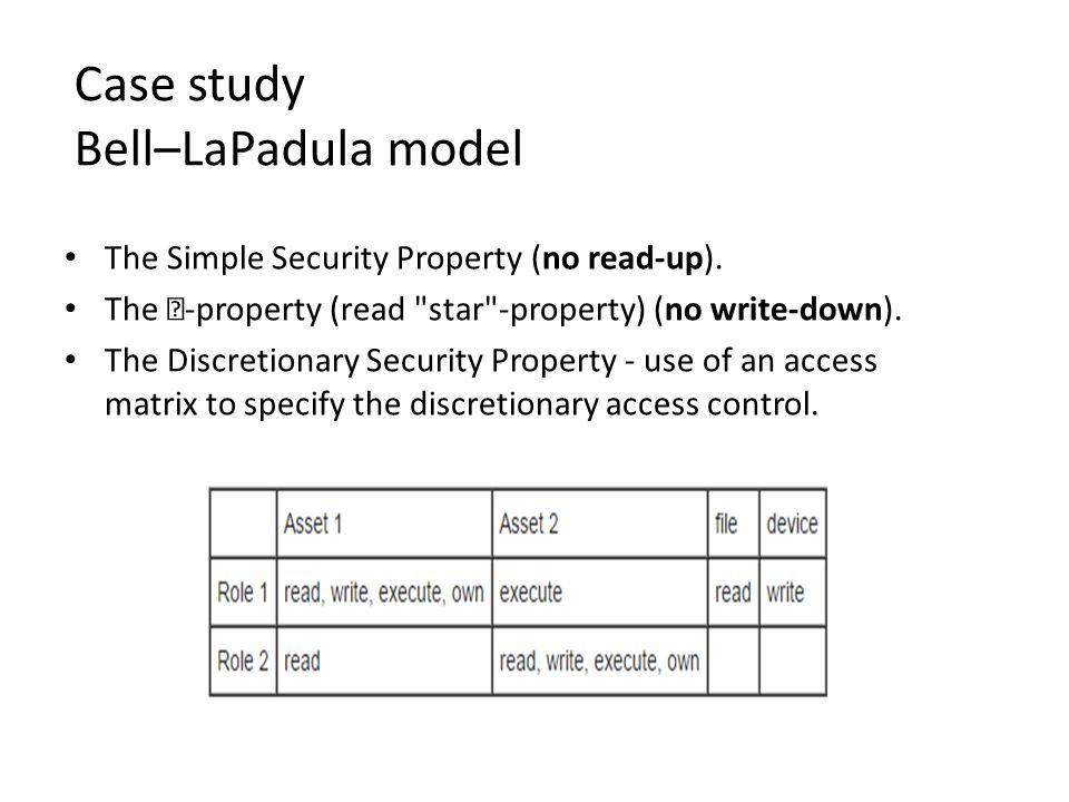 Case study Bell–LaPadula model
