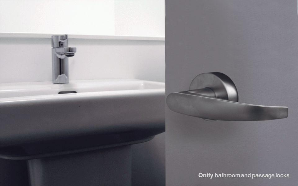 Onity bathroom and passage locks