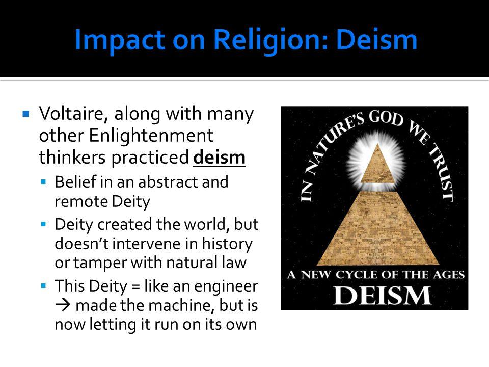 Impact on Religion: Deism