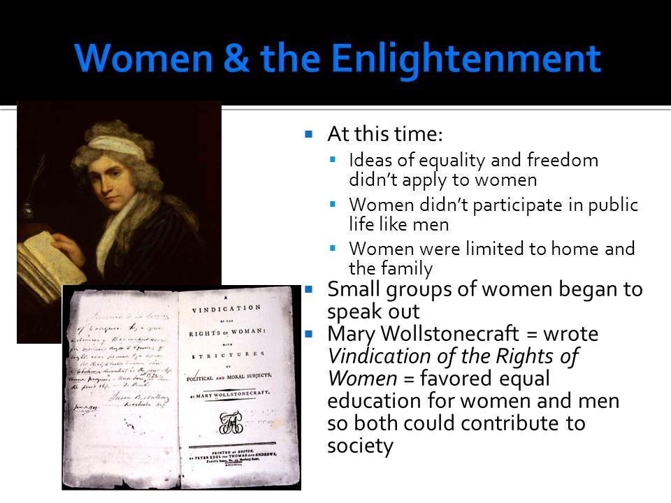 Women & the Enlightenment