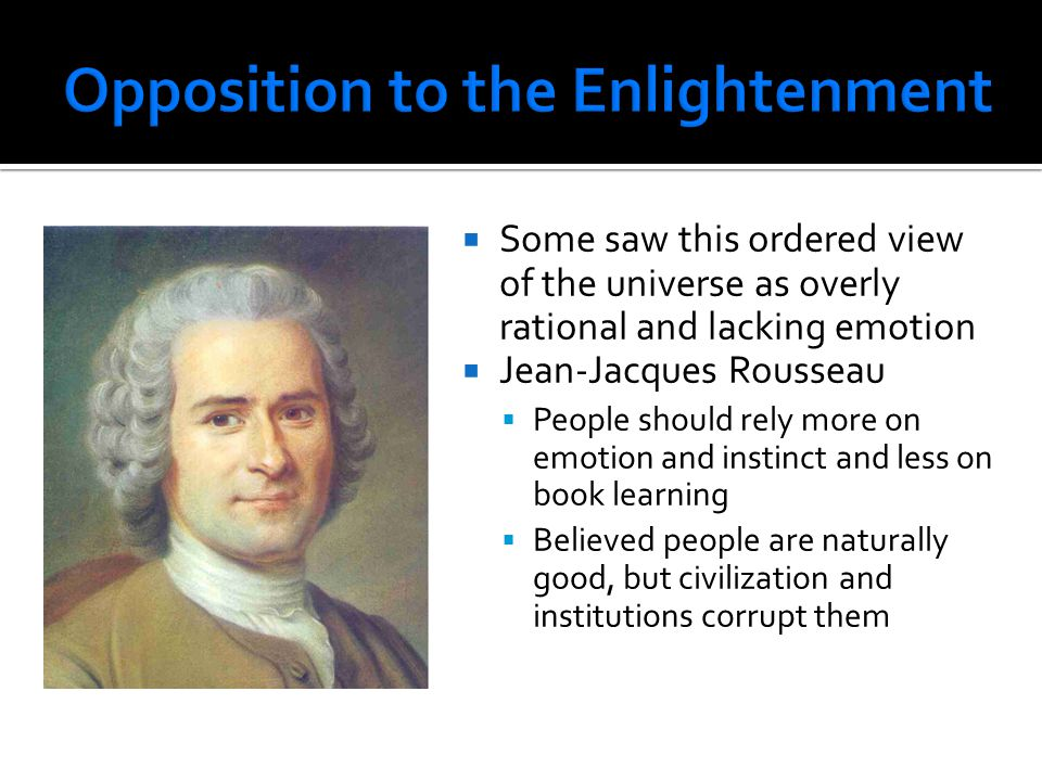 Opposition to the Enlightenment