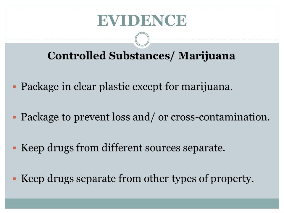 Controlled Substances/ Marijuana