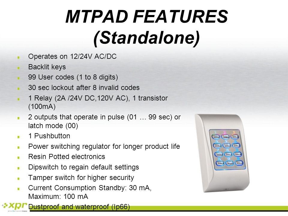 MTPAD FEATURES (Standalone)