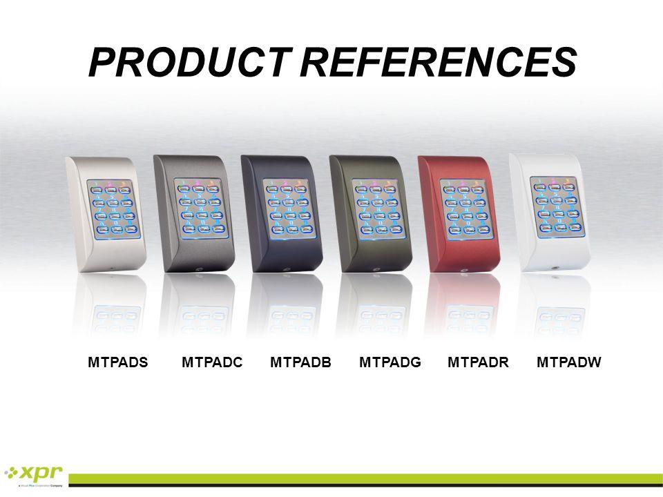 PRODUCT REFERENCES MTPADS MTPADC MTPADB MTPADG MTPADR MTPADW