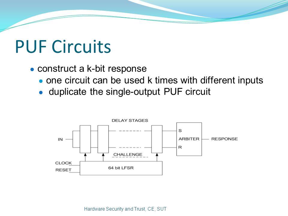 PUF Circuits construct a k-bit response