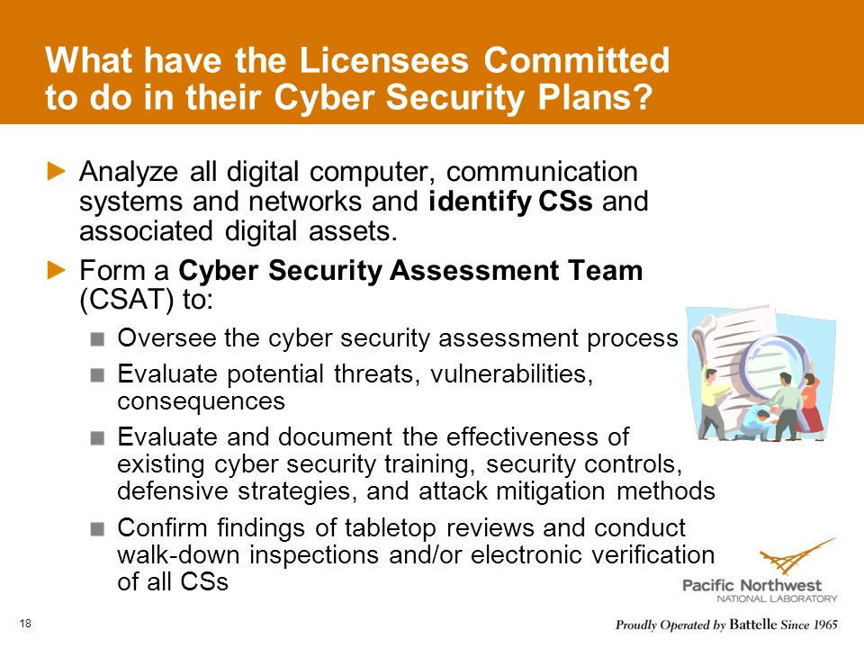 What have the Licensees Committed to do in their Cyber Security Plans