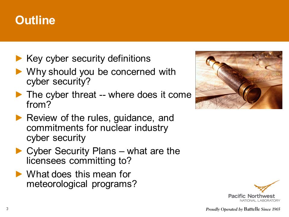 Outline Key cyber security definitions