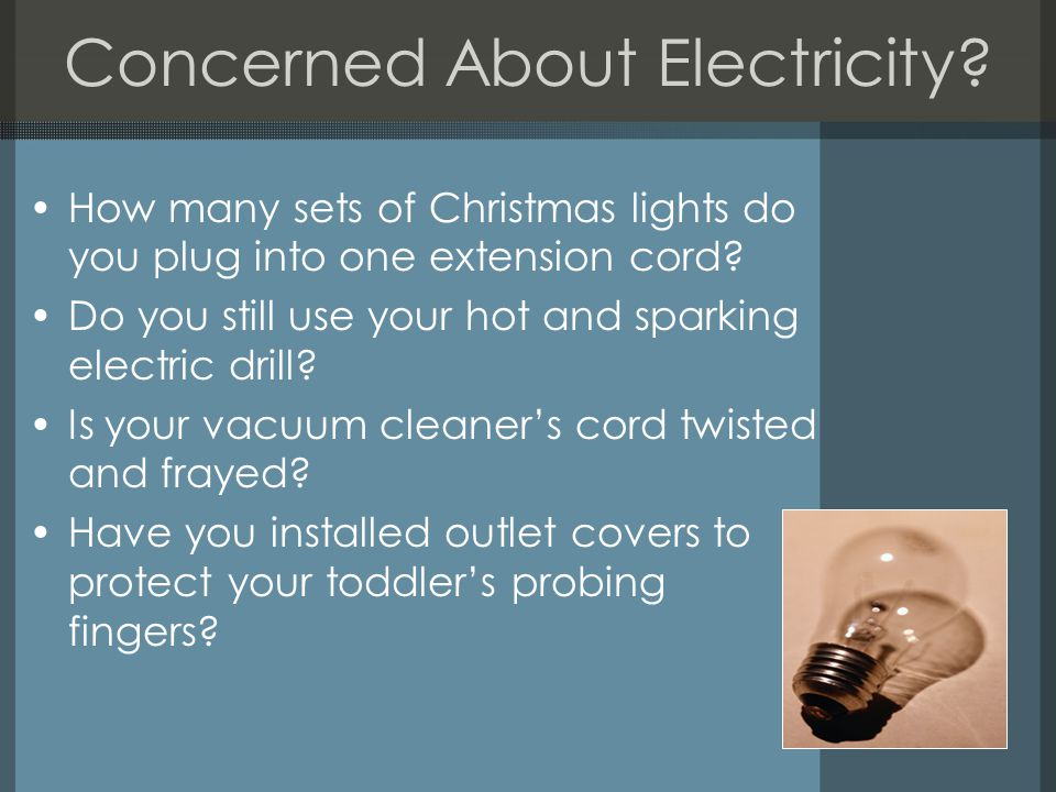 Concerned About Electricity
