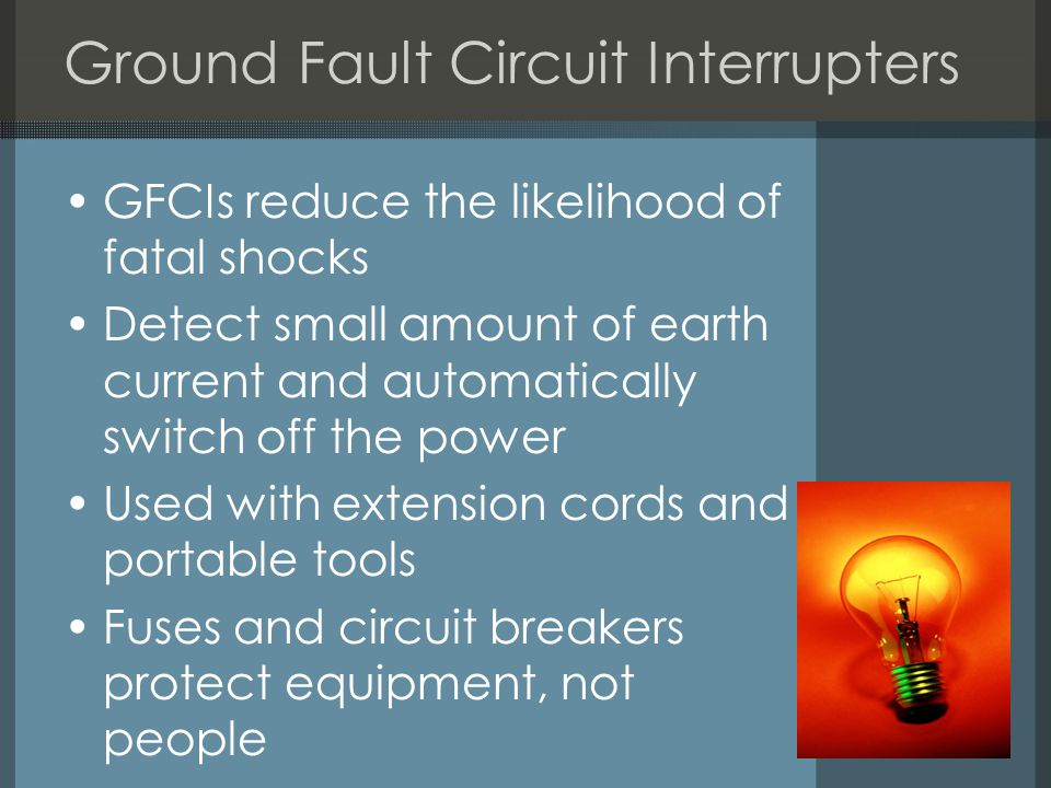 Ground Fault Circuit Interrupters
