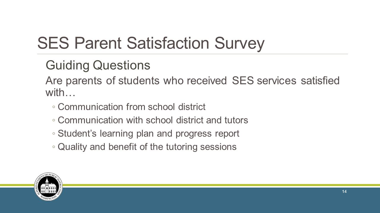 SES Parent Satisfaction Survey