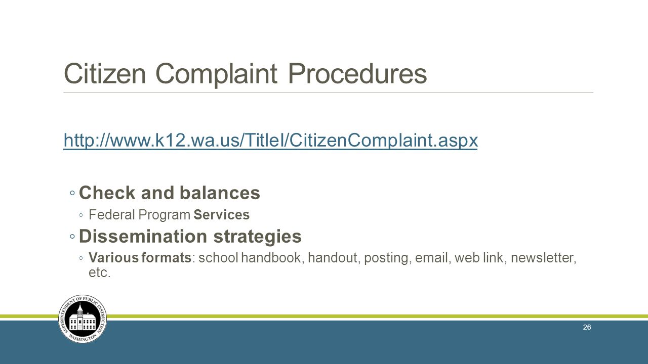 Citizen Complaint Procedures