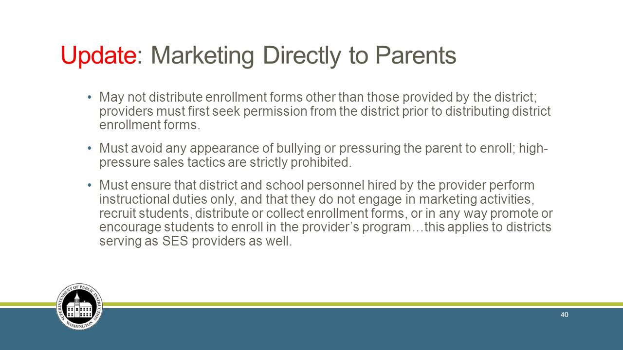 Update: Marketing Directly to Parents