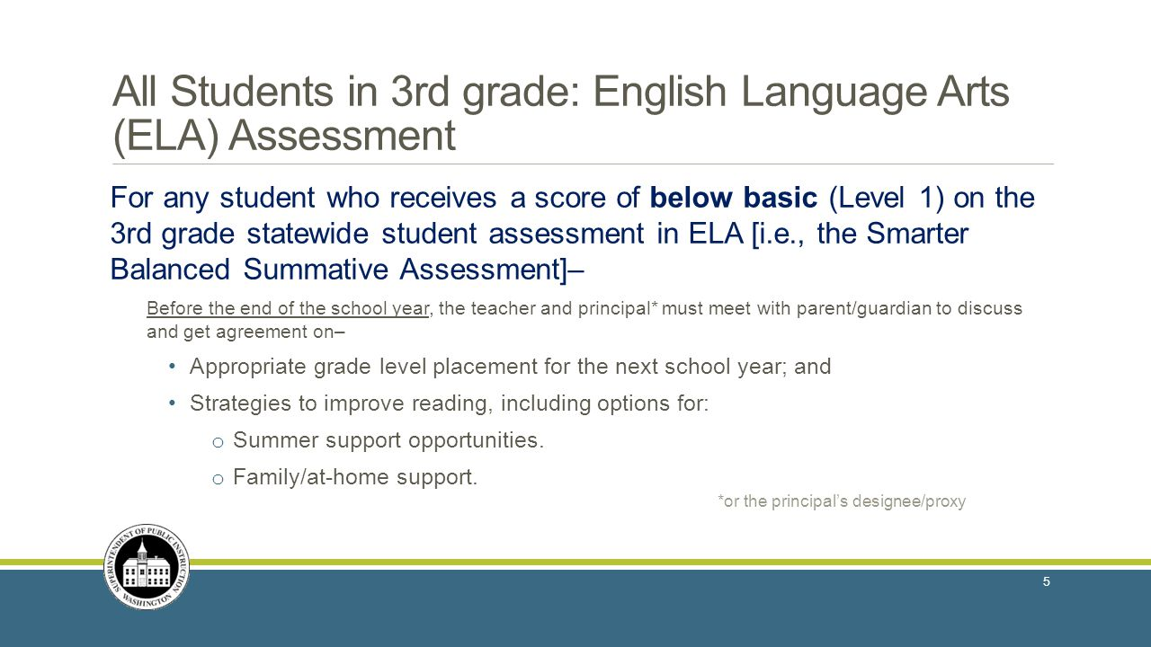 All Students in 3rd grade: English Language Arts (ELA) Assessment