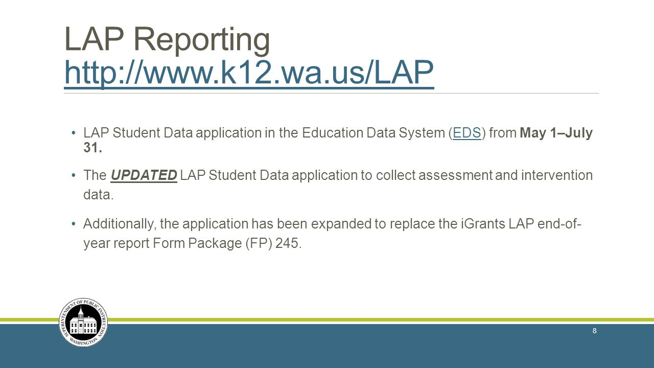 LAP Reporting http://www.k12.wa.us/LAP