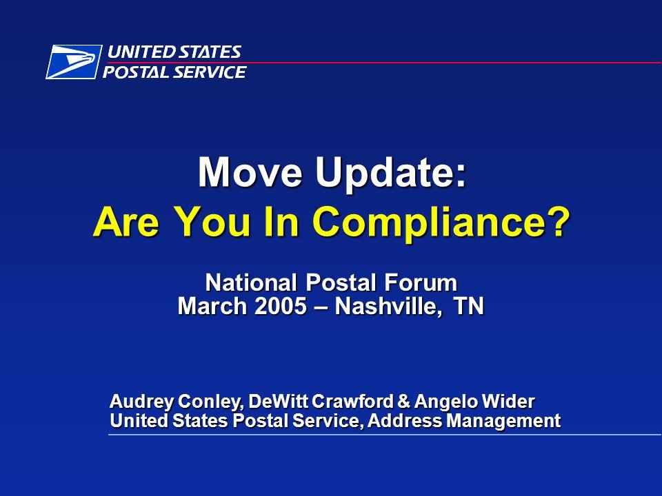 National Postal Forum March 2005 – Nashville, TN
