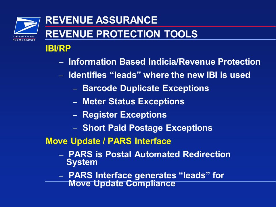 REVENUE PROTECTION TOOLS