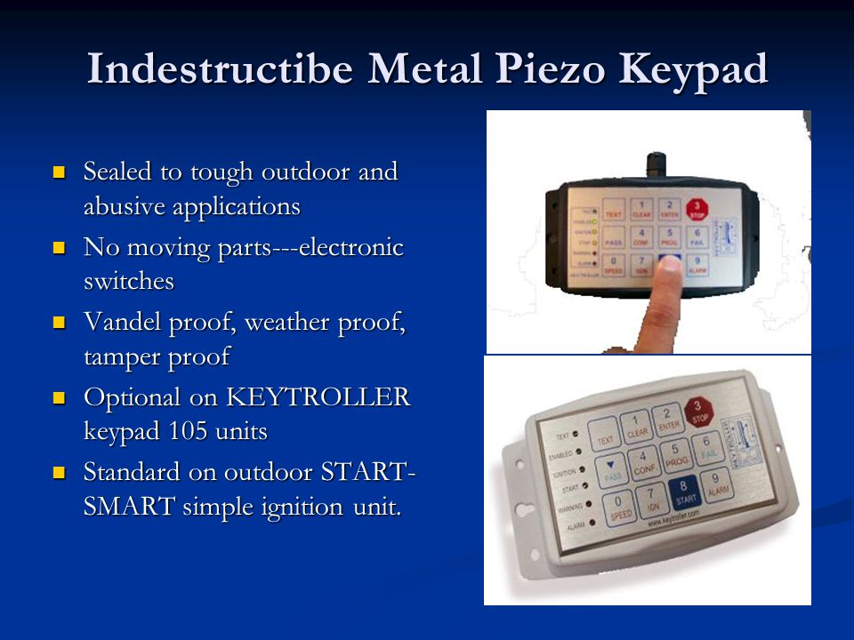Indestructibe Metal Piezo Keypad