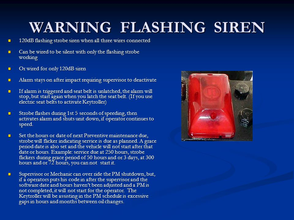 WARNING FLASHING SIREN