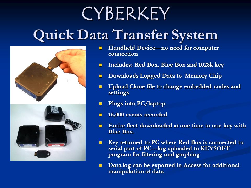 CYBERKEY Quick Data Transfer System