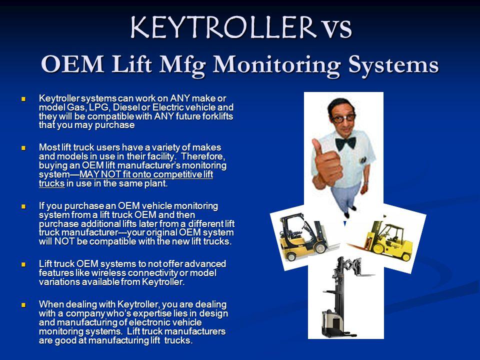 KEYTROLLER VS OEM Lift Mfg Monitoring Systems