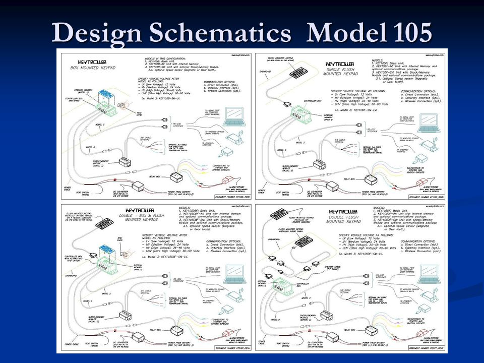 Design Schematics Model 105