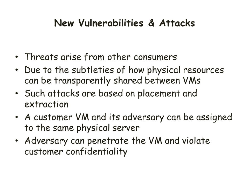 New Vulnerabilities & Attacks