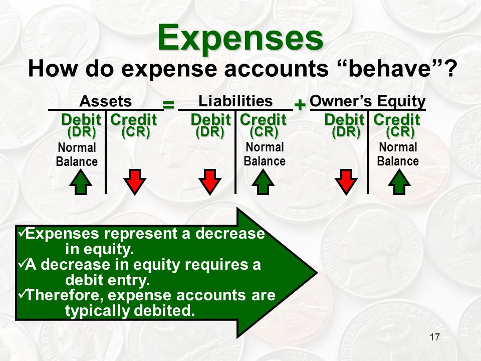 How do expense accounts behave