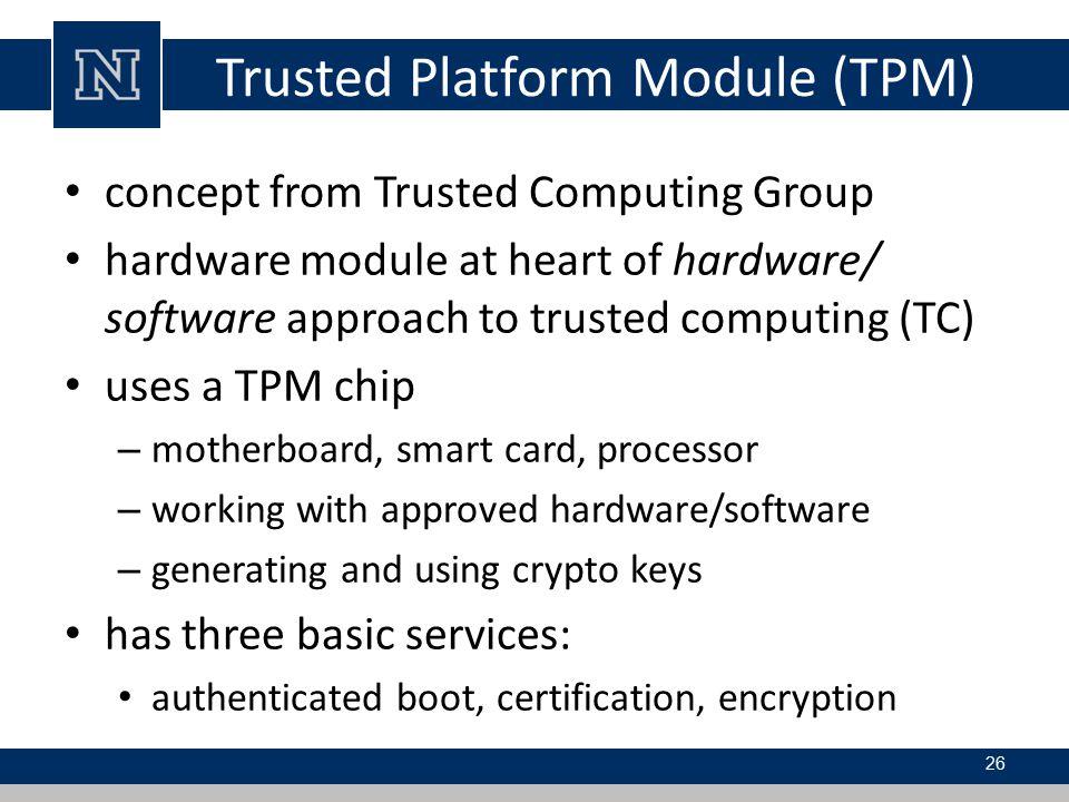 Trusted Platform Module (TPM)